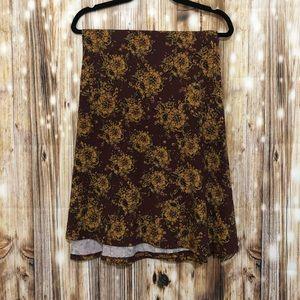 Lularoe Maxi Skirt- Floral 3X